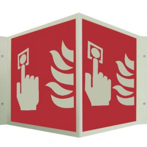 Fire Alarm Call Point Sign Angle