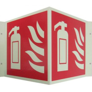 Fire Extinguisher Signs angle ext