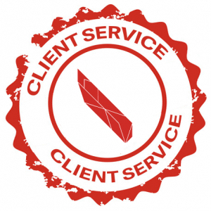 Service Client Stamp Red